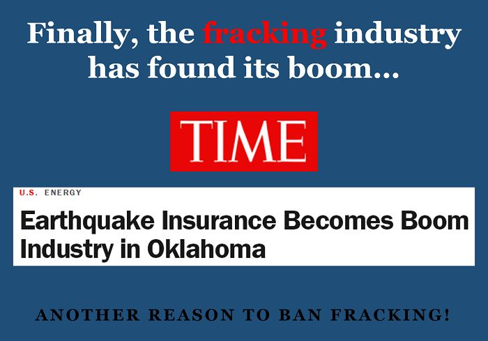 "As TIME reports: According to Amberlee Darold, a seismologist with the Oklahoma Geological Survey, it's no longer a matter of debate that hydraulic fracturing of oil and gas wells, or fracking, causes earthquakes. ""It's known that fracking can cause earthquakes and has caused earthquakes."" http://time.com/2890114/oklahoma-earthquake-fracking-insurance/?utm_content=buffer25989utm_medium=socialutm_source=twitter.comutm_campaign=buffer"