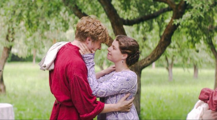 Jack Lowden and Jessie Buckley in War & Peace (2016)