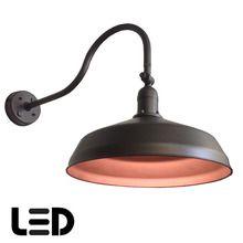 Bronze Metal Gooseneck Barn Light   LED Barn Lighting   ADLXSV925