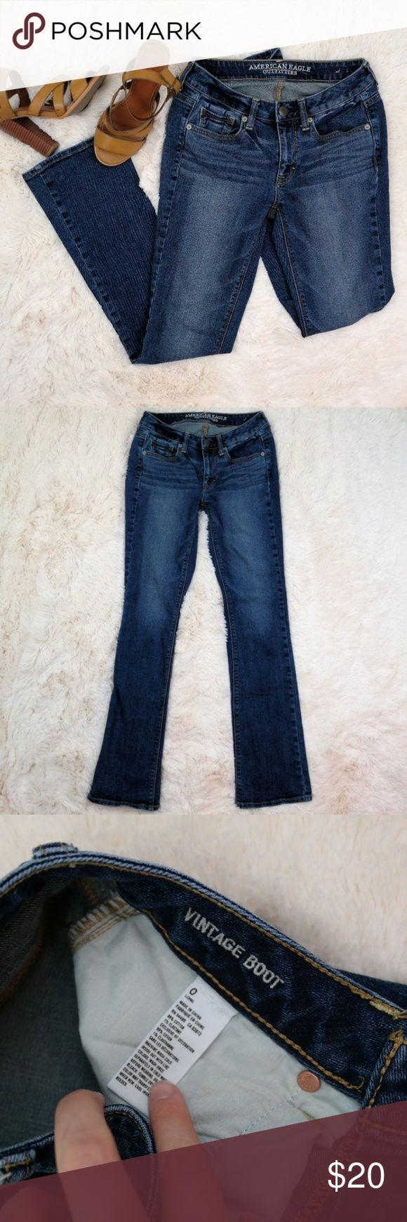 """American Eagle Outfitters Boot Cut Jeans Size 0 Long 8"""" Rise 32"""" Inseam EUC American Eagle Outfitters Jeans Boot Cut"""