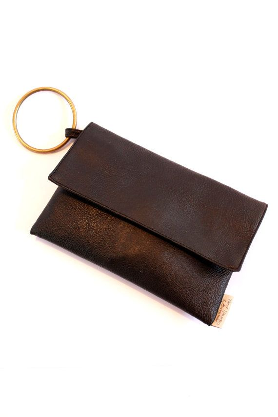 Black Clutch Purse with Handle, Casual Evening Purse, Vegan Clutch on Etsy, $60.00