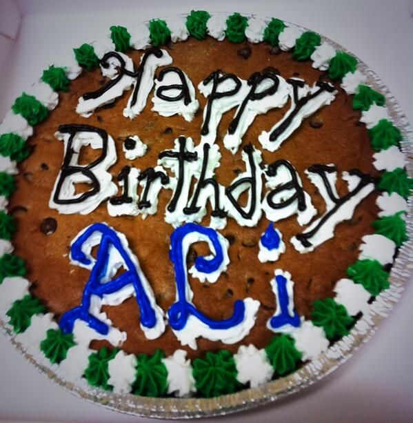 Chocolate Chip Cookie Cake 9 Happy Birthday Ali Ch Cookie