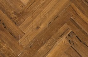 RECM2077 Reclaimed Venetian Lagoon Oak Herringbone Rustic Grade 100mm x 650mm Engineered Wood Flooring