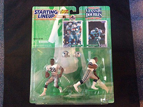 1997 NFL Starting Lineup Classic Doubles - Emmitt Smith & Tony Dorsett - Dallas Cowboys  https://allstarsportsfan.com/product/1997-nfl-starting-lineup-classic-doubles-emmitt-smith-tony-dorsett-dallas-cowboys/  1997 Edition NFL Starting Lineup Classic Doubles – Featuring Winning Pairs of the Game's Greatest
