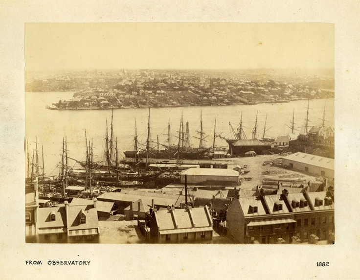 Isn't the view magnificent? Looking across Darling Harbour towards East Balmain from the Observatory in 1882. #cityofsydneyarchives #darlingharbour #history #archives