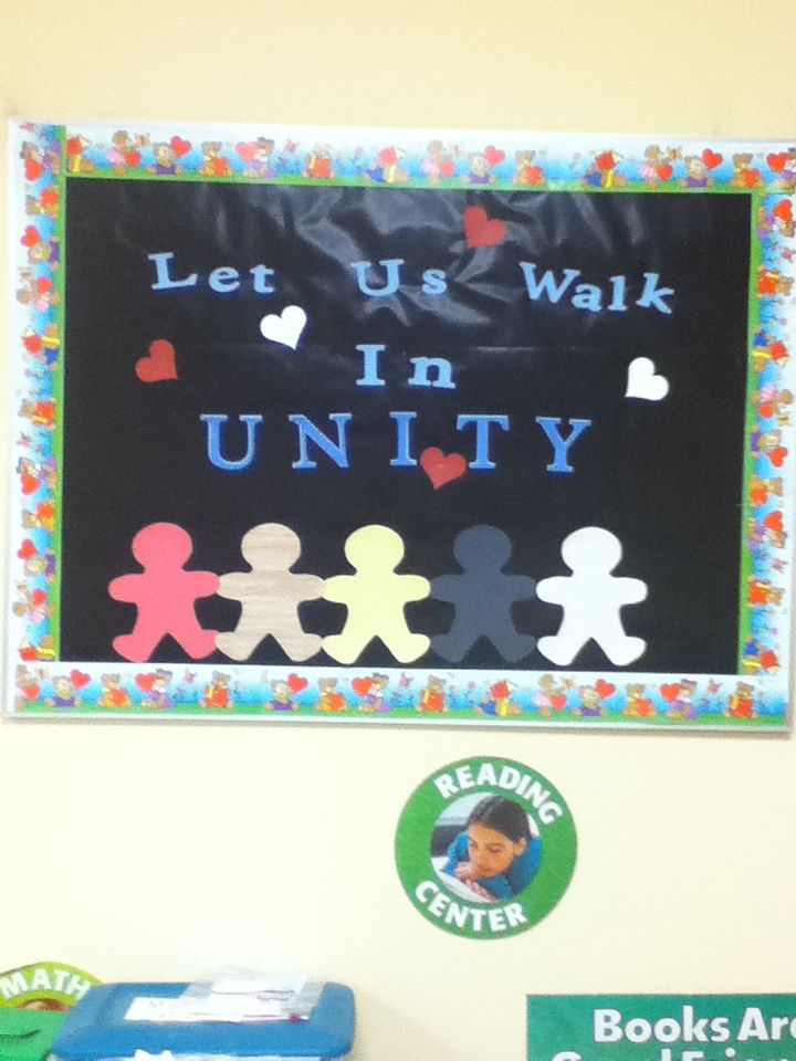 Classroom Unity Ideas : February unity bulletin board ideas
