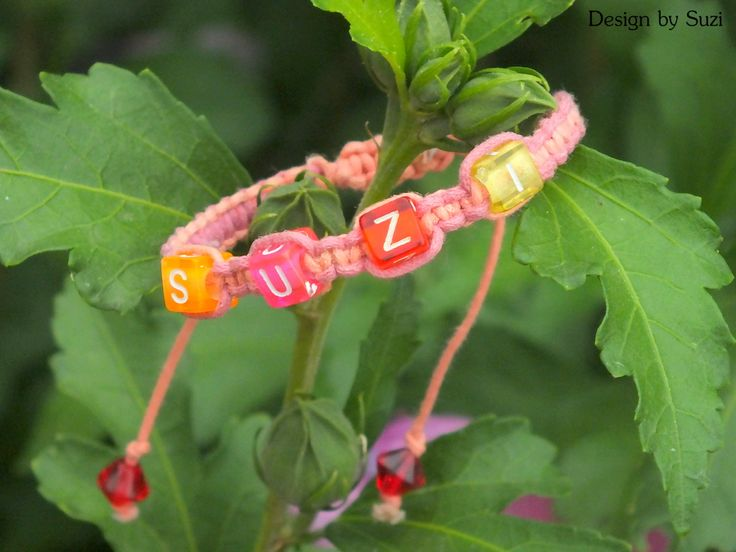 Macramé bracelet with name