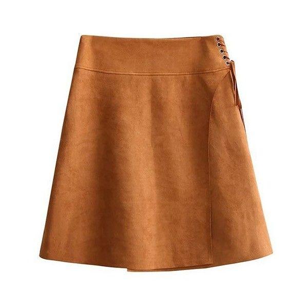 Brown A Line Skirt
