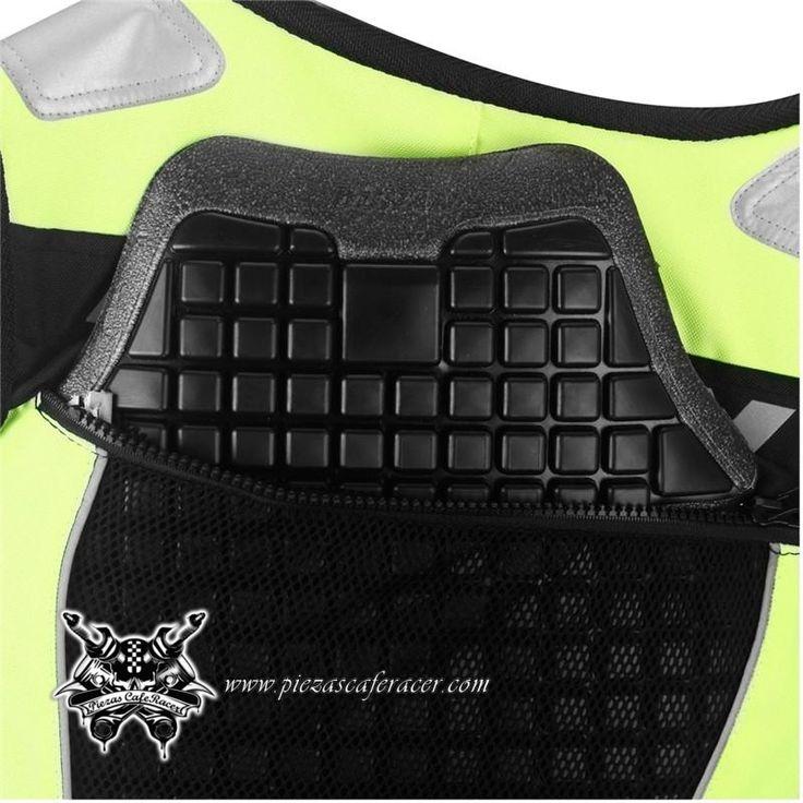Chaleco para Moto con Protección Cervical Color Verde Reflectante - 69,21€ - ENVÍO GRATUITO EN TODOS LOS PEDIDOS