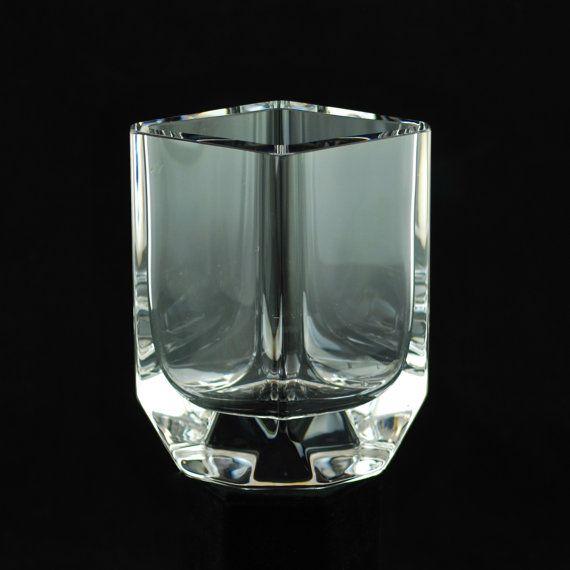 Vintage Sigurd Persson For Kosta Boda Modernist Crystal