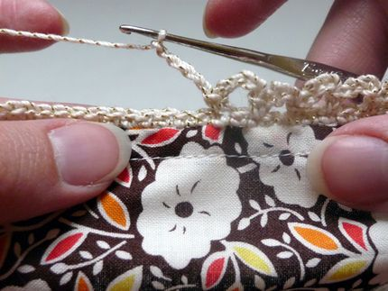 How to Edge a Napkin (or Anything Else) with Crochet