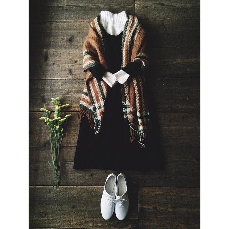 クラッシックなスタイルもたまにはいい感じです☺️ #chronik #ootd #outfit #coordinate #コーディネート