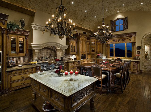 Beautiful tuscan style kitchen tuscan mediterranean for Beautiful kitchen remodels