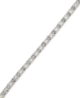Diamond Tennis Bracelet in 14 White Gold (1/2 ct. t.w.) | macys.com