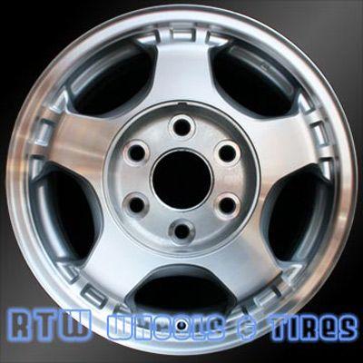 "GMC Savana Van wheels for sale 2003-2008. 16"" Machined Silver rims 5073 - http://www.rtwwheels.com/store/?post_type=product&p=33019"