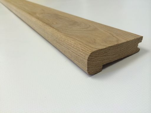 Marvelous Unfinished Solid Oak Stair Nosing, 80 X 20 Mm, 1 M, Tradition Flooring