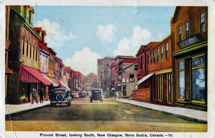 Provost Street_New Glasgow_Nova Scotia_1941 http://CaperMemories.Com my home sweet home.........
