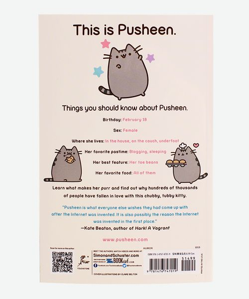 Pusheen's first book is finally here! Pusheen is a pleasantly plump cat who has warmed hearts and tickled funny bones of millions worldwide with her signature G