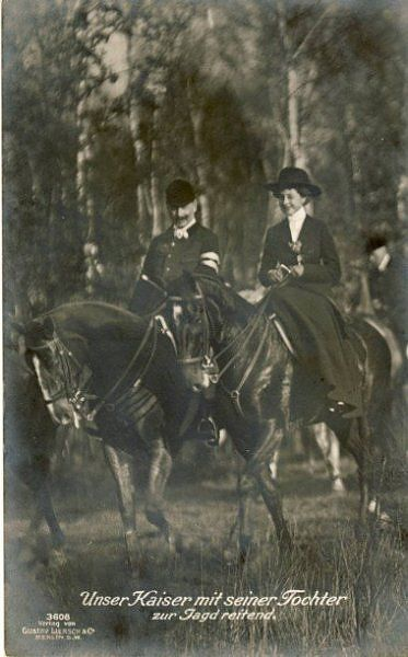Kaiser Wilhelm II of Germany with his only daughter, Princess Viktoria Luise of Prussia