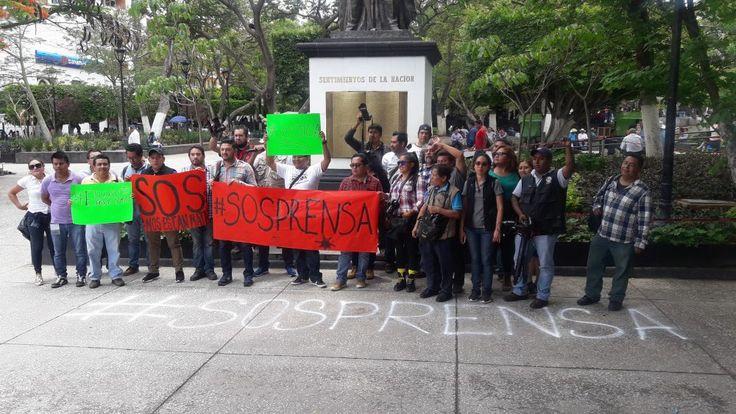 Protestan reporteros en Chilpancingo