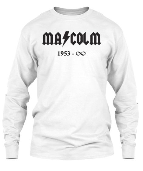 "MALCOLM YOUNG of ACDC ETERNAL HARD ROCK KING SWEATSHIRT - Mens - Heavy Metal T-Shirts - White  ""The World's No:1 Online Heavy Metal T-Shirt Store"". Check it out our Metalhead Clothing and Apparel Store, Satanic Fashion and Black Metal T-Shirt Stores; www.HeavyMetalTshirts.net"