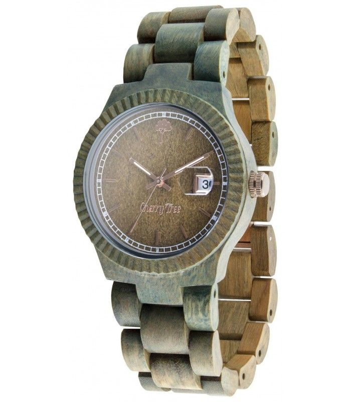 Green Moss is the watch made from 100% natural Sandal wood and is mounted inside the mechanism Miota Japan. Its color so special, is given by its naturalness