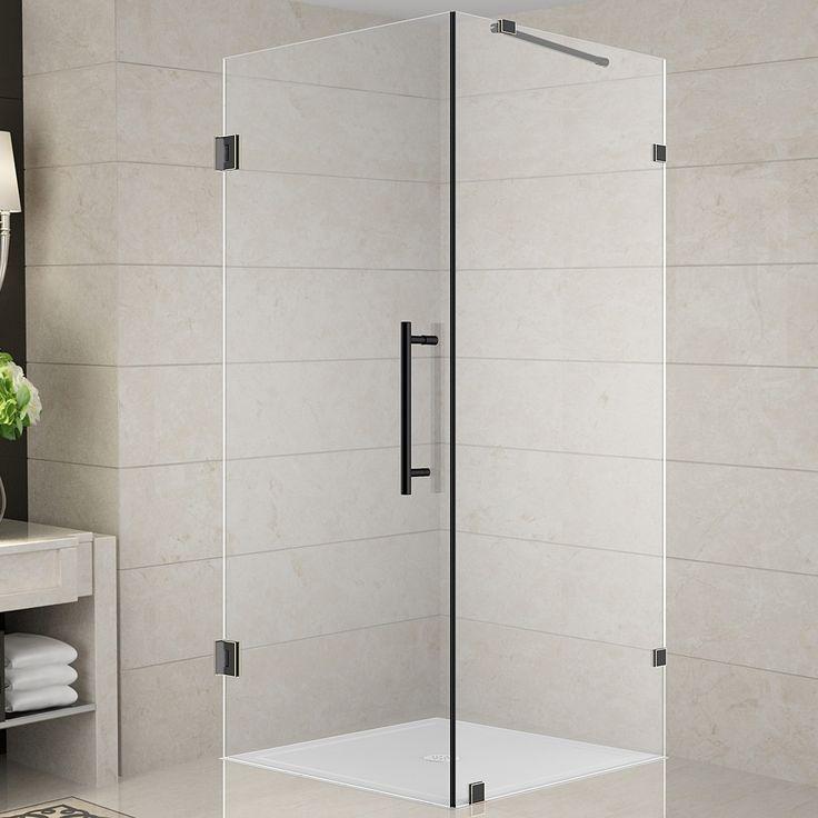 "Aquadica 30"" x 30"" x 72"" Pivot Door Frameless Square Shower Enclosure"