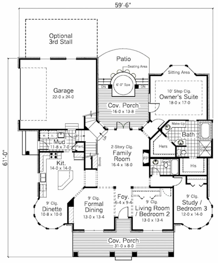 traditional style house plan 3 beds 2 baths 1961 sqft plan 51