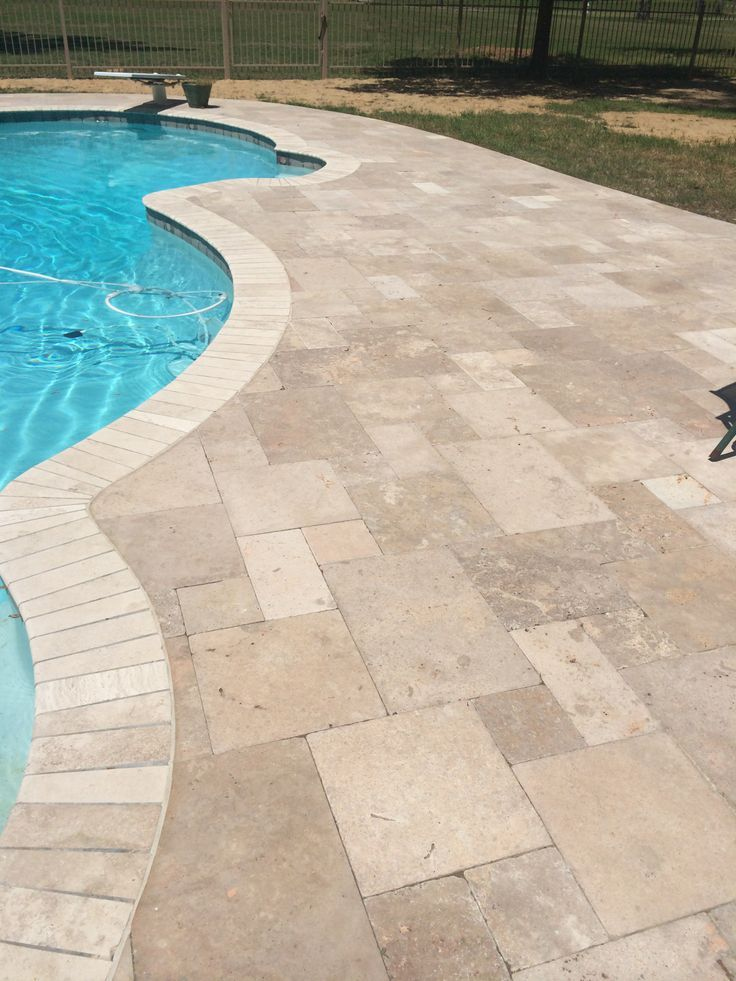 Pool Deck Travertine Pavers Decktravertine Pavers Pool