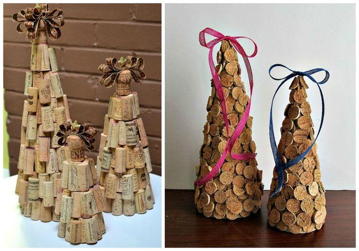 Manualidades con corchos para hacer decoraci n de navidad - Adornos navidenos para hacer en casa ...