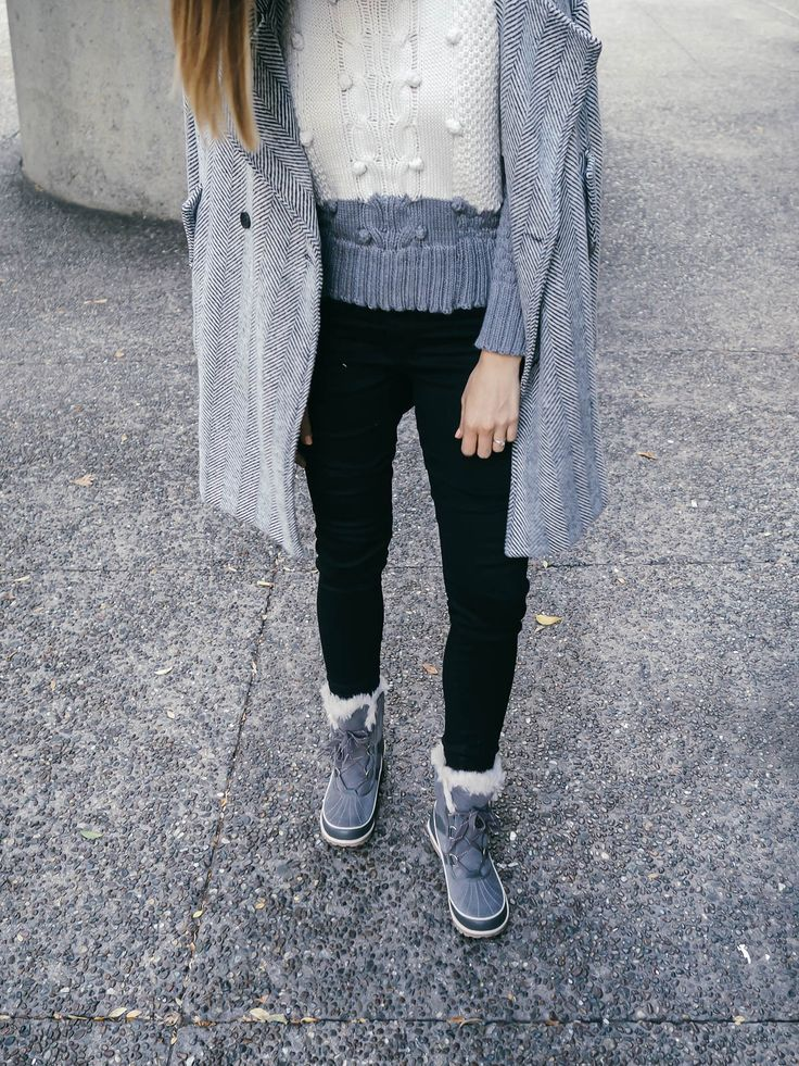 SOREL ON THE STREETS, AG Jeans, SOREL Tivoli Boots, St. Roche Sweater, AG Jeans