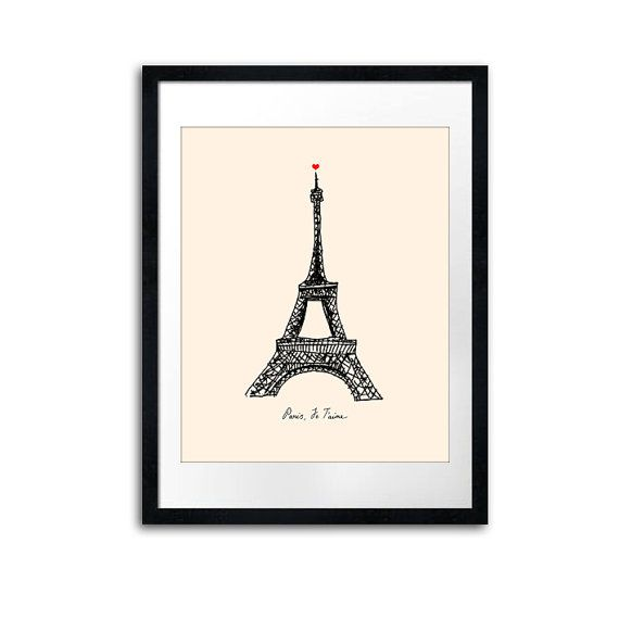 This would be so cute in a little girls Paris themed room :)
