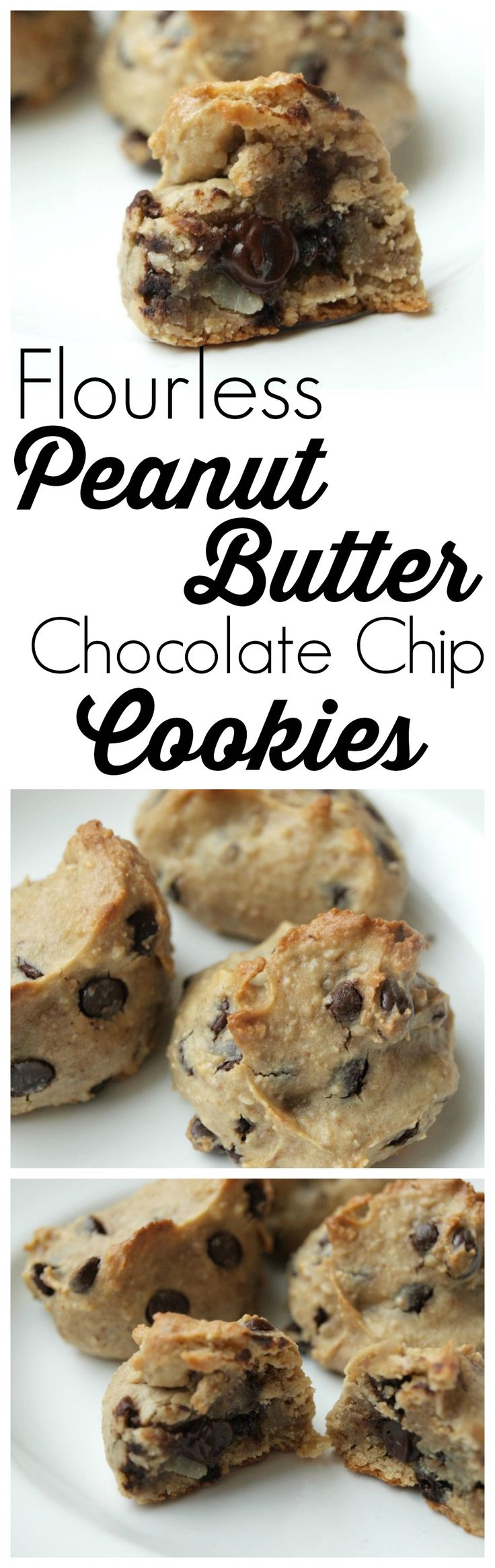 It's hard to believe these Peanut Butter Chocolate Chip Cookies are made with NO flour! They are delicious! There's also NO oil and NO refined sugar.  Amazing healthy recipe!