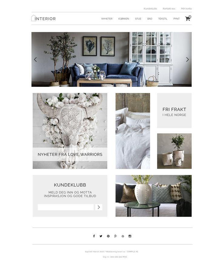 Online Interior Store on Behance