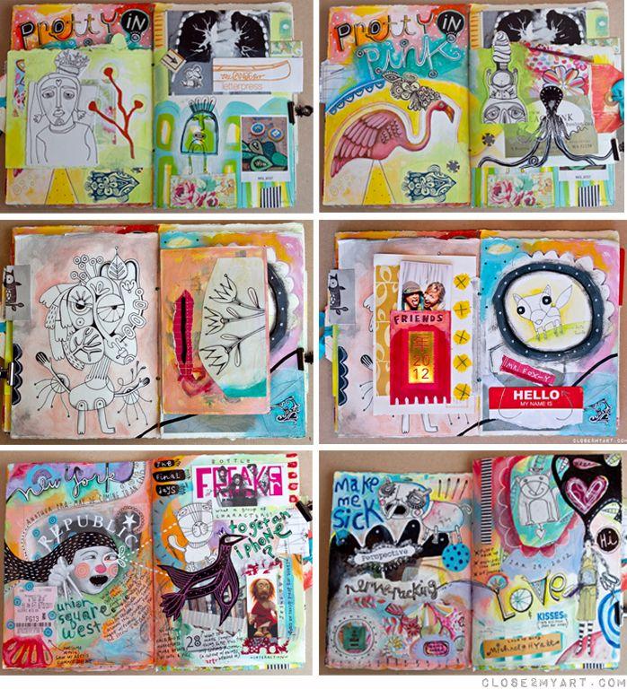 Art journal pages by Michelle Allen: Art Journal Pages, Artsy Journalling, Art Journalling, Art Journals, Journal Art Travel, Journals Sketchbooks, Art Journaling
