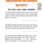 In this two page activity, students will use Halloween riddles provided in order to make inferences....