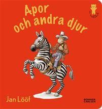 """De bästa böckerna åt de första läsarnaJan Lööf är en mästare på att teckna exotiska djur som både stora och små tycker är underbara att titta på. Bilderna presenteras i ett stadigt litet format för de allra yngsta.Här kan man peka på noshörningar, elefanter, zebror, lejon och så klart på en massa härliga apor. Tydliga konturlinjer och klara färger gör det enkelt för de yngsta barnen att känna igen djuren.""""Nalleböckerna"""" är nybörjarböcker med kvalité för de allra minsta barnen. Små…"""