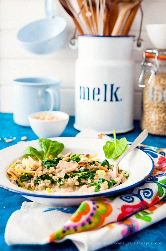 spinach and coconut milch buckwheat 'risotto'by Pieprz czy Wanilia