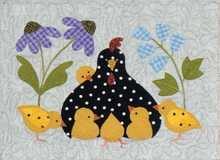 "Here a chick, there a chick, everywhere a chick, chick! This is an absolutely darling 36"" x 42"" flannel quilt by Bonnie Sullivan with adorable chicks in each block. This project features appliqué, piecing and simple hand embroidery. All fabrics are flannel and will be exactly as shown.Your program will include: Pre-fused and Pre-Cut Applique pieces! No need to trace, cut out, or turn the edges! All Patterns All Fabrics Buttons Backing is not included but can be added s..."