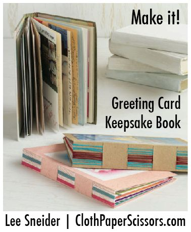 Such a cool idea - make a keepsake card holder for your favorite greeting cards. <3 ClothPaperScissors.com #PaperArt #cards