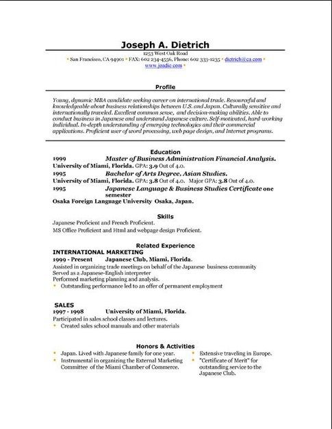 Downloadable Resume Templates For Students