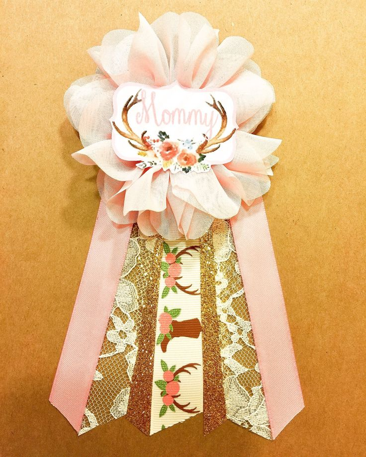Boho Floral Baby Shower Pin mommy to be pin Flower Ribbon Pin Corsage mama mom mommy deer antlers rustic baby shower country girl by afalasca on Etsy https://www.etsy.com/listing/493438724/boho-floral-baby-shower-pin-mommy-to-be