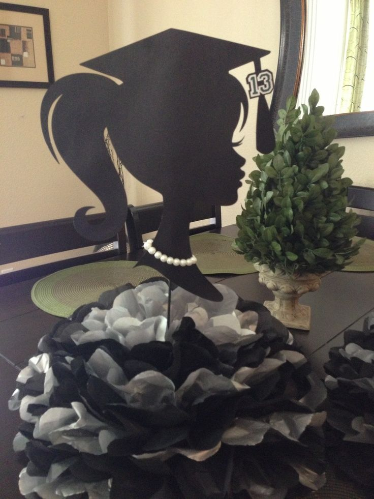 graduation centerpieces | Girl graduation centerpiece. | merika sanchez