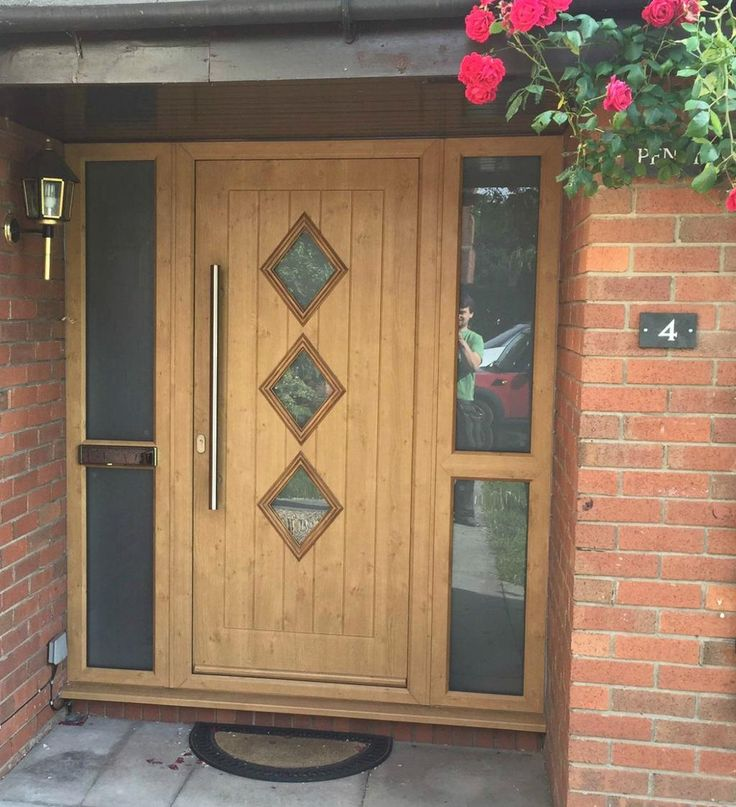 This gorgeous eldon composite front door in irish oak was for Composite front doors