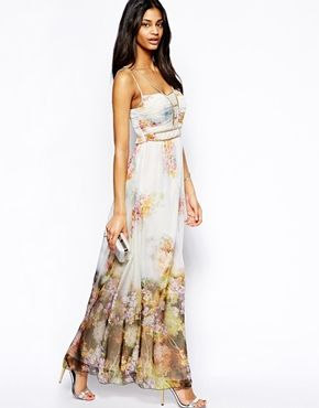 Image 4 ofLittle Mistress Maxi Dress in Floral Print