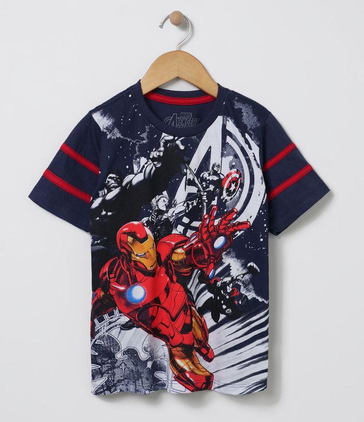 Camiseta infantil Manga curta Gola redonda Com estampa Homem de Ferro Marca: Avengers Tecido: Meia malha Composição: 100% algodão COLEÇÃO VERÃO 2017 Veja outras opções de camisetas infantis.