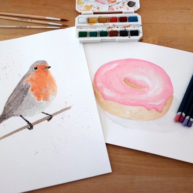 Two of our hand made watercolour illustrations. www.bondandfox.com