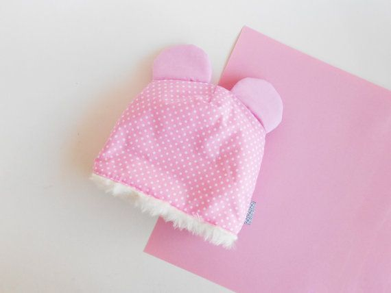 Baby Beenie  Baby hat with ears  newborn hat  Cotton by Zezling