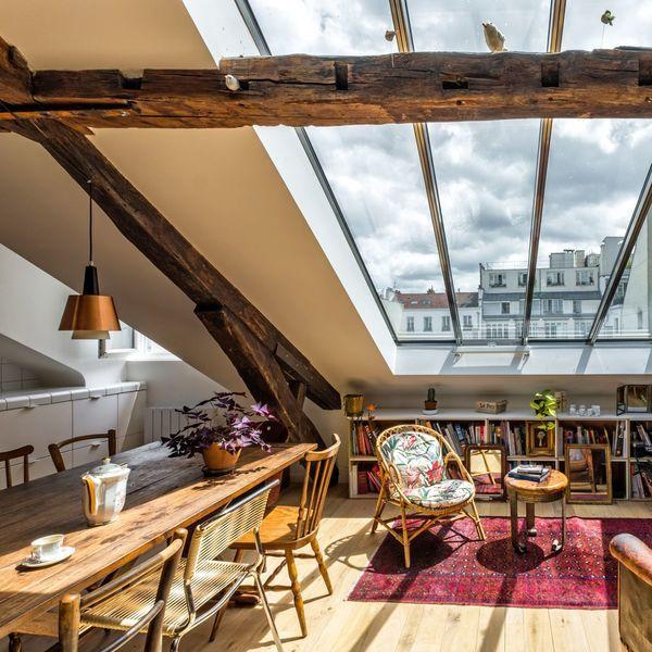 Appartement Paris 10 : 80 m2 avec verrière et combles aménagés