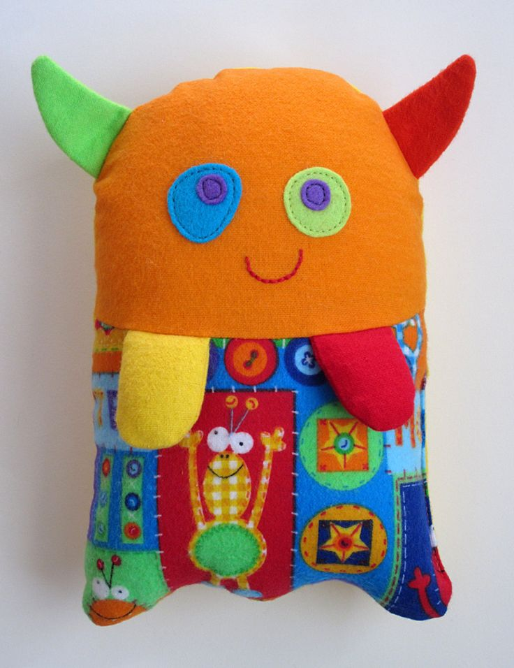 Stuffed Monster Toy Pattern - PDF Sewing Pattern for Plush Monster-Monster Helps Children Show Feelings Washable Cloth Soft Toy. $8.00, via Etsy.